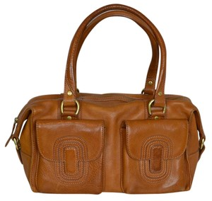 Ghurka Leather Rectangular Satchel in Chestnut