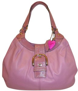 Coach Refurbished Leather Pink Hobo Bag