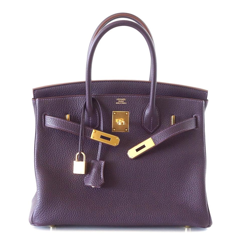 9fb29108dda4 Hermès Birkin 30 Rich Raisin Gold Hardware Togo Purple Leather Tote ...
