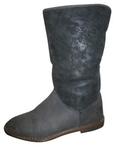Eddie Bauer Leather Sheepskin black Boots