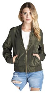 Plus Size Bomber Green Curvy Military Jacket