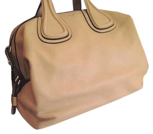 Givenchy Leather Nightingale Satchel in Beige