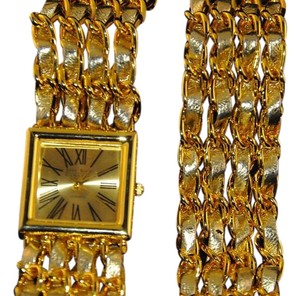 Joan Rivers J R Designer Watch W/ Matching Bracelte Gold Tone Woven Leather NEW