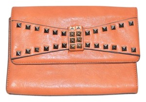 Urban Expressions Cross Body Studded Gold Chain Crossbody Orange Clutch