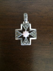 Sterling Silver & Marcasite Cross