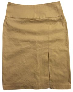 Banana Republic Pencil High Waist Fitted Skirt Khaki