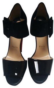 Christian Louboutin Black/Leather/Suede Platforms