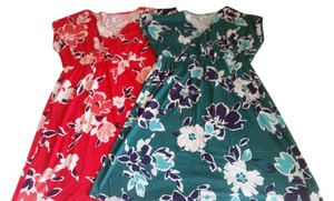 Old Navy short dress #1:Red Floral, #2: Teal Floral Cross Front Plus on Tradesy