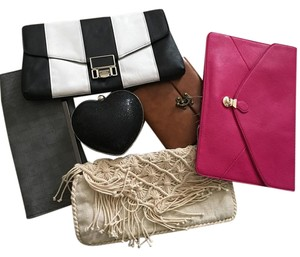 ASOS Sale Black &white, brown, hot pink, black, beige, grey Clutch