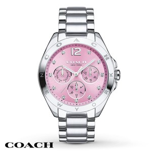 Coach Coach Tristen 14502236 Stainless Pink Dial Glitz Chronograph Watch