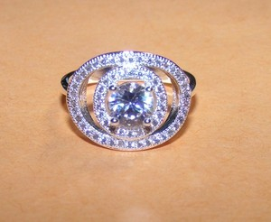 Silver 2 Listings 1 Price White Topaz Fashion Free Shipping Engagement Ring