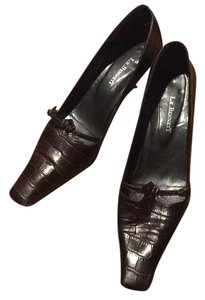 L.K. Bennett Brown Pumps