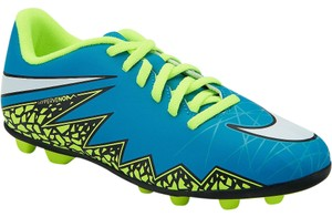 Nike Soccer Cleats Women Blue/Yellow Athletic