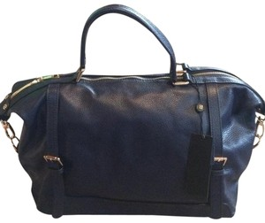 Ora Delphine Leather Satchel in Navy