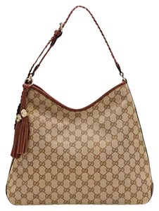 Gucci New Hobo Gg Tote in Brown