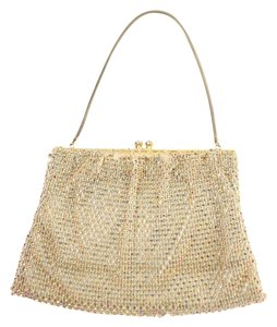 best&co. Evening Clutch Mesh Metallic Gold Satchel