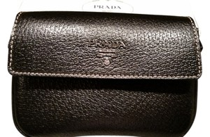 Prada Iphone Case Leather Wallet Iphone Case black Clutch