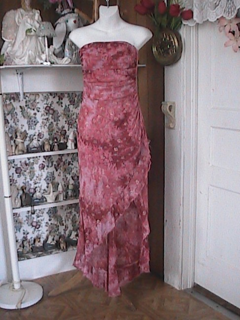Unknown High Low Strapless Dress