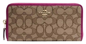 Coach COACH 54633 Outline Signature Accordion Zip Wallet NWT