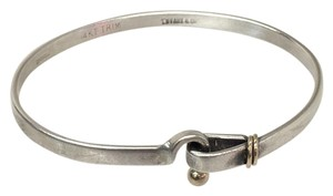 Tiffany & Co. Tiffany &Co 925 sterling silver 18k Hook & Eye Cuff Bangle
