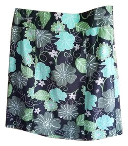 Ann Taylor LOFT Mini Skirt Green/brown