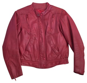 Hein Gericke Red Leather Jacket