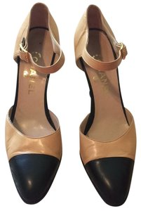 Chanel Mary Jane Pump Tan and black Pumps