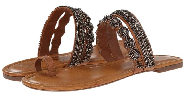 Item - Brown Beaded Accents Flats Size US 8.5 Regular (M, B)