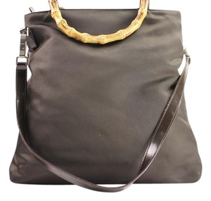 Gucci Two-way 2way Nylon Wristlet in BROWN