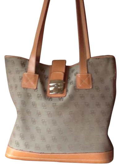 Preload https://item3.tradesy.com/images/dooney-and-bourke-camel-leather-canvas-satchel-197232-0-0.jpg?width=440&height=440