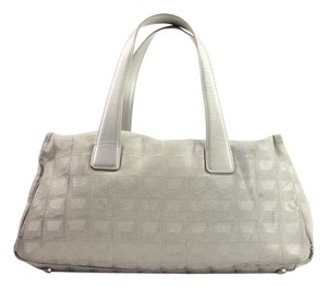 Chanel Silver Grey Satchel