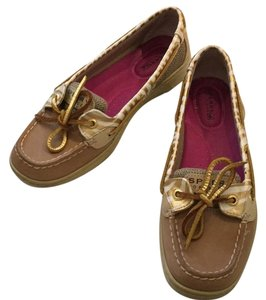 Sperry Sunfish Boat Gold tan Flats