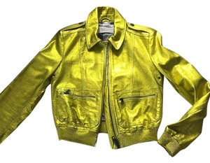 Burberry Brit Gold Leather Jacket