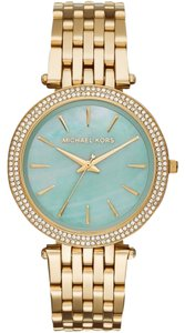 Michael Kors Michael Kors Darci Gold Steel Mother of Pearl Dial Watch MK3498