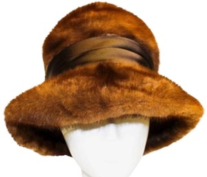 Mink Cloche Hat with Grosgrain Ribbon