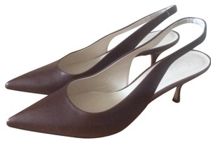 Bally Leather Chocolate Brown Pumps