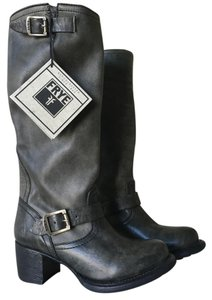 Frye Leather Vera Slouch Vintage Black Boots