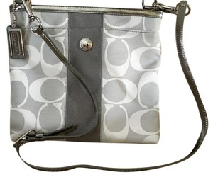 Coach White Silver Small Cross Body Bag