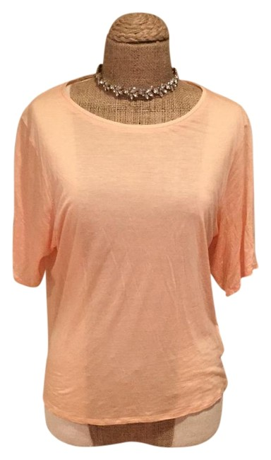 helmut lang t shirt peach orange pink blush 65 off retail tradesy. Black Bedroom Furniture Sets. Home Design Ideas