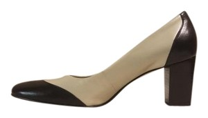 Etienne Aigner Black and Off White Pumps