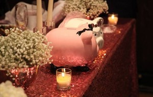 Set Of Bride/groom Table Decoration