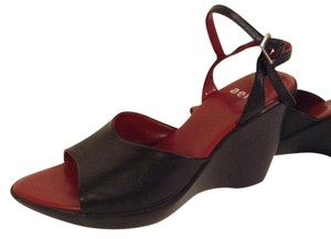Aeffe Leather Size 8 Black Sandals