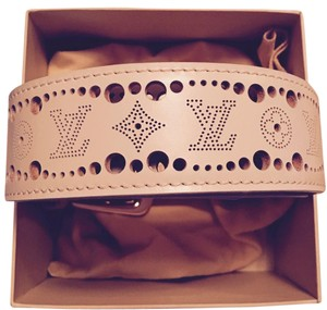 Louis Vuitton Louis Vuitton LVCreme leather monogram laser cut