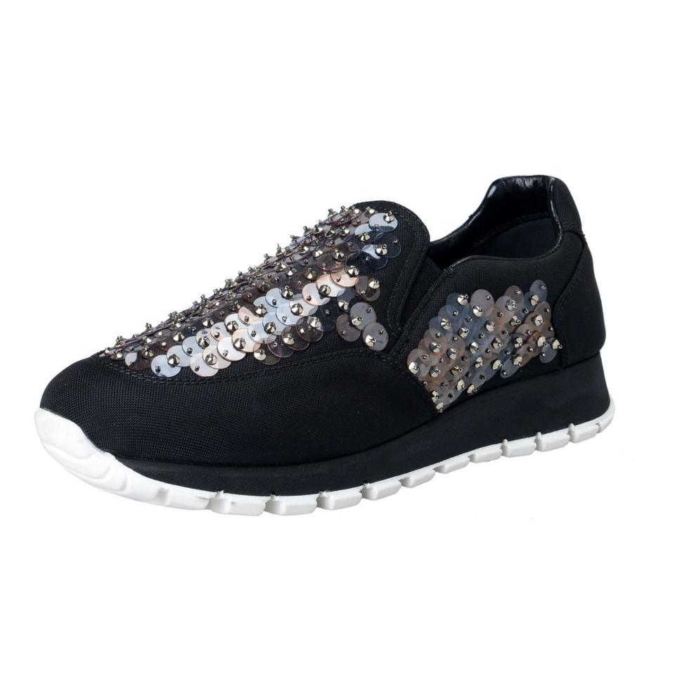 9747c8e91c0 Prada Multi-color Women s Sequin Decorated Moccasins Loafers Slip On ...