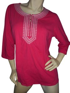 Susan Graver Embroidered V-neck Tunic
