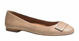 Coach Python Croc Embossed Leather Nude / Sand Flats