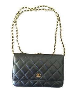 Chanel Woc Gold Wallet On Chain Cross Body Bag