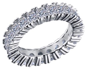Ladies 5ct Oval Cut AAA CZ eternity Band