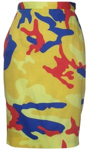 Stephen Sprouse Skirt Multi Camo