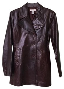 bebe Dark Brown Leather Jacket